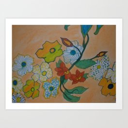 Flowery Chain Art Print