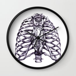 The owl is wise and proper Wall Clock