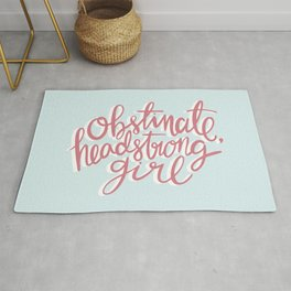 Obstinate Headstrong Girl Book Quote Rug