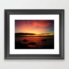 Sutro Baths Sunset Framed Art Print