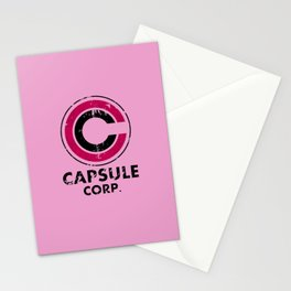 Capsule Corp Vintage pink Stationery Cards