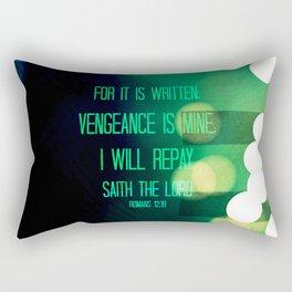 VENGEANCE IS MINE (ROMANS 12:19)  Rectangular Pillow