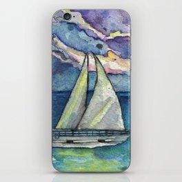 sailboat iPhone Skin