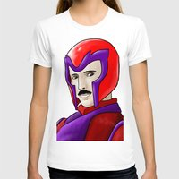 magneto T-shirts featuring Magneto Tesla by Aghko