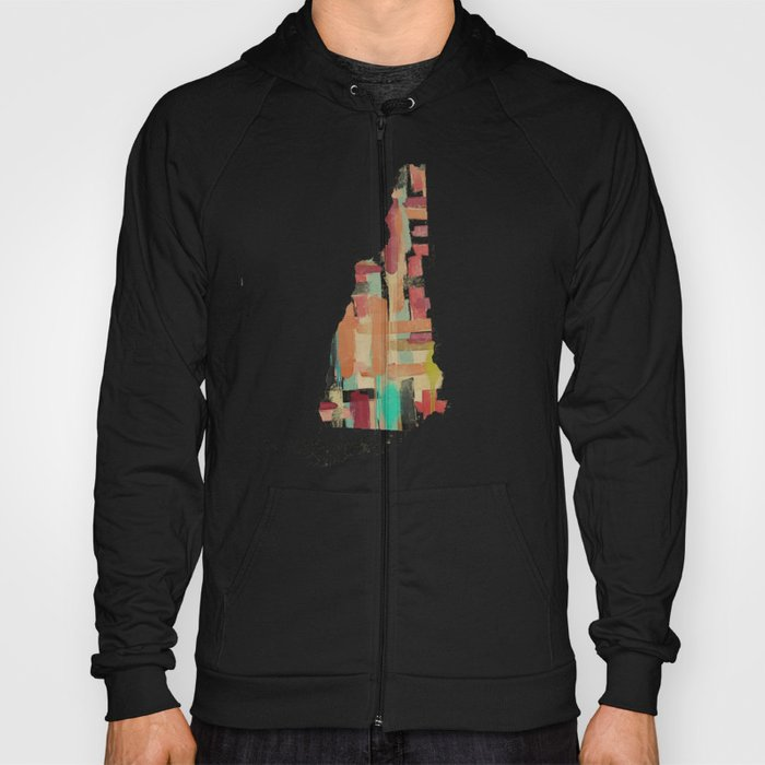 new hampshire state map Hoody