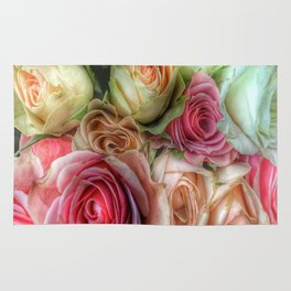 Roses - Pink and Cream Rug