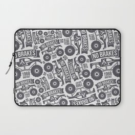 Pattern with the image of bigfoot car Laptop Sleeve