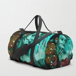 """The witch of the water forest"" Duffle Bag"