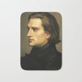 Franz Liszt (1811-1886) at 29. Painting by Charles Laurent Marechal (1801-1887). Bath Mat