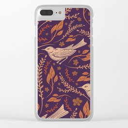 Thrush And Foliage II Clear iPhone Case