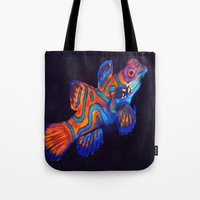 duvet cover Tote Bags featuring AMAZING CREATURE DUVET COVER by aztosaha