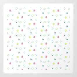 Rosewall buds (on white) Art Print