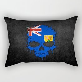 Flag of Turks and Caicos on a Chaotic Splatter Skull Rectangular Pillow