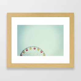 Ferris Wheel at the Sta. Monica Pier Framed Art Print