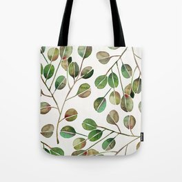 Silver Dollar Eucalyptus – Green Palette Tote Bag