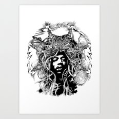 Obey the Riff  Mark Day Art Print