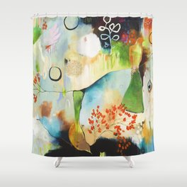"""Rainwash"" Original Painting by Flora Bowley Shower Curtain"