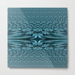 Waves 3 Fractal Metal Print