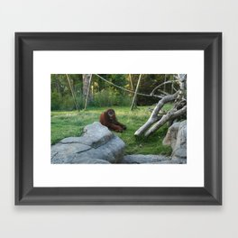 Not a good day to be me. Framed Art Print