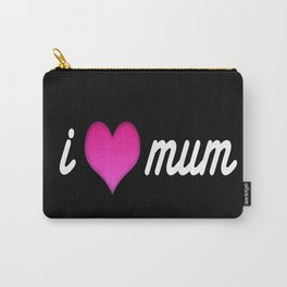 i love moom mum pink valentine heart Carry-All Pouch