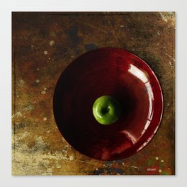 Red Bamboo Bowl Canvas Print