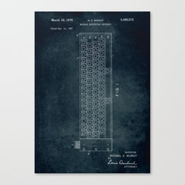 1967 - Modular electrical keyboard Canvas Print