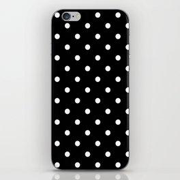 Black & White Polka Dots iPhone Skin