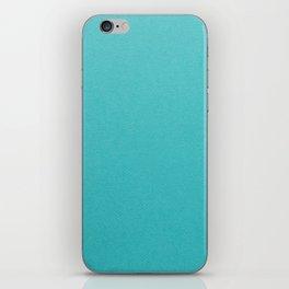 Turquoise Blue iPhone Skin