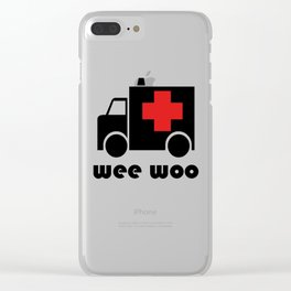Wee Woo Ambulance Clear iPhone Case