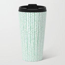 Knit Wave Mint Metal Travel Mug