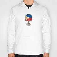 philippines Hoodies featuring Vintage Tree of Life with Flag of Philippines by Jeff Bartels