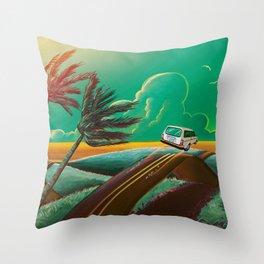 Flying Station Wagon Throw Pillow