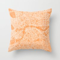 london map Throw Pillows featuring London Map by chiams