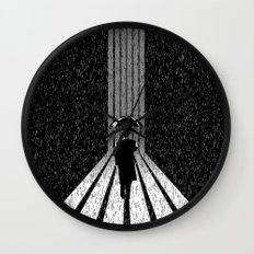 Winter's Long Road Wall Clock