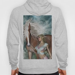 Wonderful fairy with horse Hoody