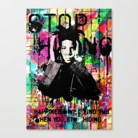 basquiat Canvas Prints featuring Basquiat  by Zoé Rikardo