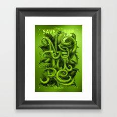 Save The Nature Framed Art Print