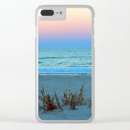 Seaside Sunset Clear iPhone Case