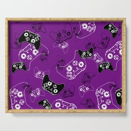 Video Game Purple Serving Tray