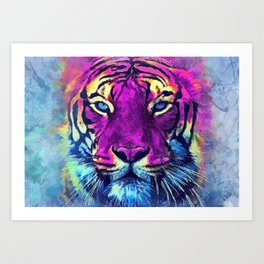 tiger purple spirit #tiger Kunstdrucke