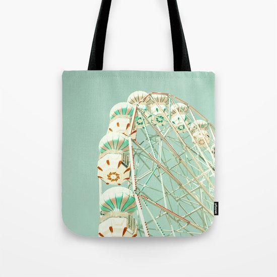 Soft Aqua Ferris Wheel  Tote Bag