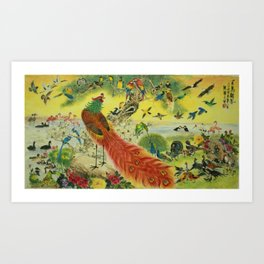 100 Birds (Variety B) Art Print