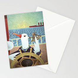 A-Z Animal, Albatross Quartermaster - Illustration Stationery Cards