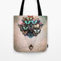 butterflies Tote Bags featuring Dream On by Christian Schloe