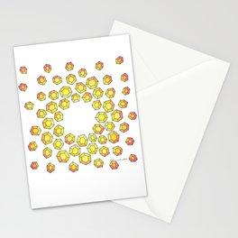 Yellow Diamonds Stationery Cards