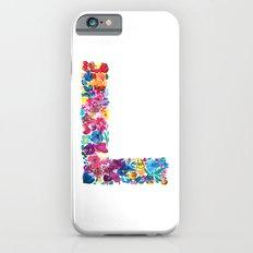 L Letter Floral iPhone 6s Slim Case