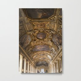 Louvre Majesty - Look Up Series Metal Print