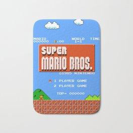 Retrogaming title screen   vintage video game design Bath Mat