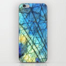 Royal Labradorite Crystal Agate Gemstone Print iPhone Skin