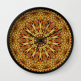 Floral Autumn Garden Mandala Wall Clock